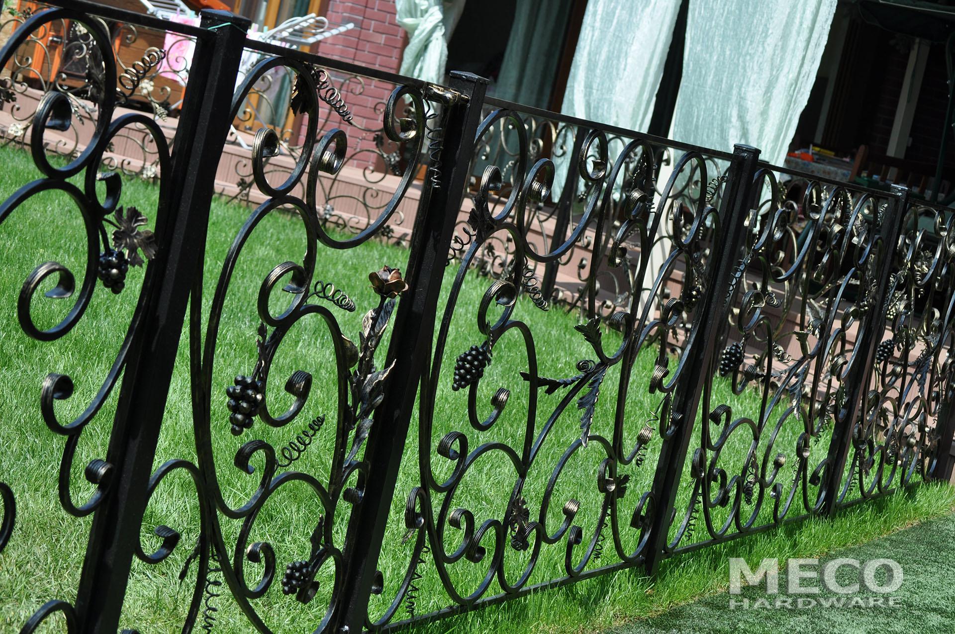 Кованый забор в Донецке